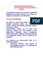Dynamics of Organisational Culture