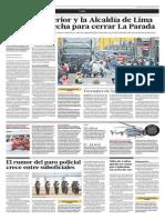 El sector Interior y la Municipalidad de Lima aún no definen plan para cerrar La Parada