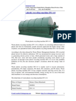 Waste Plastic Recycling Machine DY-1-8