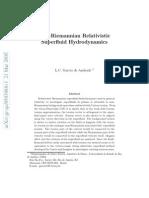 Relativistic Super-fluid Hydrodynamics