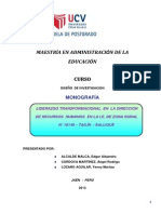 Monografia de Loderazgo UCV