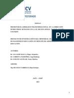PROYECTO DE INVESTIGACIÓN  UCV.