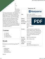 Husqvarna AB - Wikipedia, The Free Encyclopedia