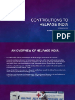 Contributions to HelpAge India