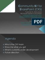 Community Kit for SharePoint (CKS)