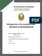 METODOS DE  REFRIGERACIÓN