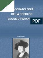 7186083 PsicopatologIa de La Posicion Esquizo Paranoide