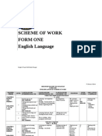 SOW Yearly Scheme of Work Form 1
