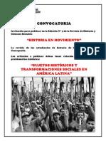 Convocatoria Revista Historia en Movimiento N° 3