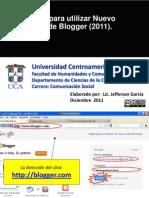 Manual para utilizar Blogger y administrar bitácora