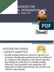 Nursing Diagnosis for Ante Part Um, um and Post