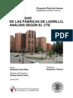 Estabilidad de las fábricas de ladrillo, análisis según el CTE (1)