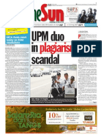 TheSun 2009-09-14 Page01 Upm Duo in Plagiarism Scandal