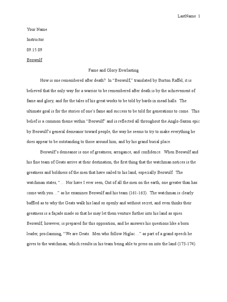 beowulf essays essays on teacher essay on teacher and student  beowulf essay beowulf essay the tragic faults of a timeless hero beowulf essay fame and glory