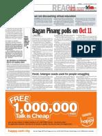 TheSun 2009-09-15 Page02 Bagan Pinang Polls on Oct 11