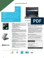HP Pavilion Dm3-1030us_Datasheet