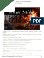 Anjos Caídos - Nomes e suas atribuições _ Originais World