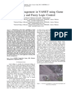 Obstacle Management in VANET using Game Theory and Fuzzy Logic Control