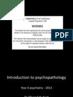 Introduction to Psychopathology (1)