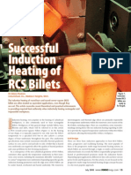 Successful Induction Heating of RCS Billets