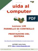 Guida al Computer - Lezione 120 - Pannello di Controllo - Prestazioni del Sistema