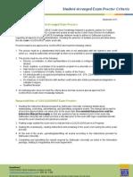CUIC Online Exam Proctor Criteria