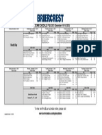 201301 Final Exam Schedule