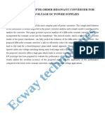 Analysis of a Fifth-Order Resonant Converter for High-Voltage Dc Power Supplies