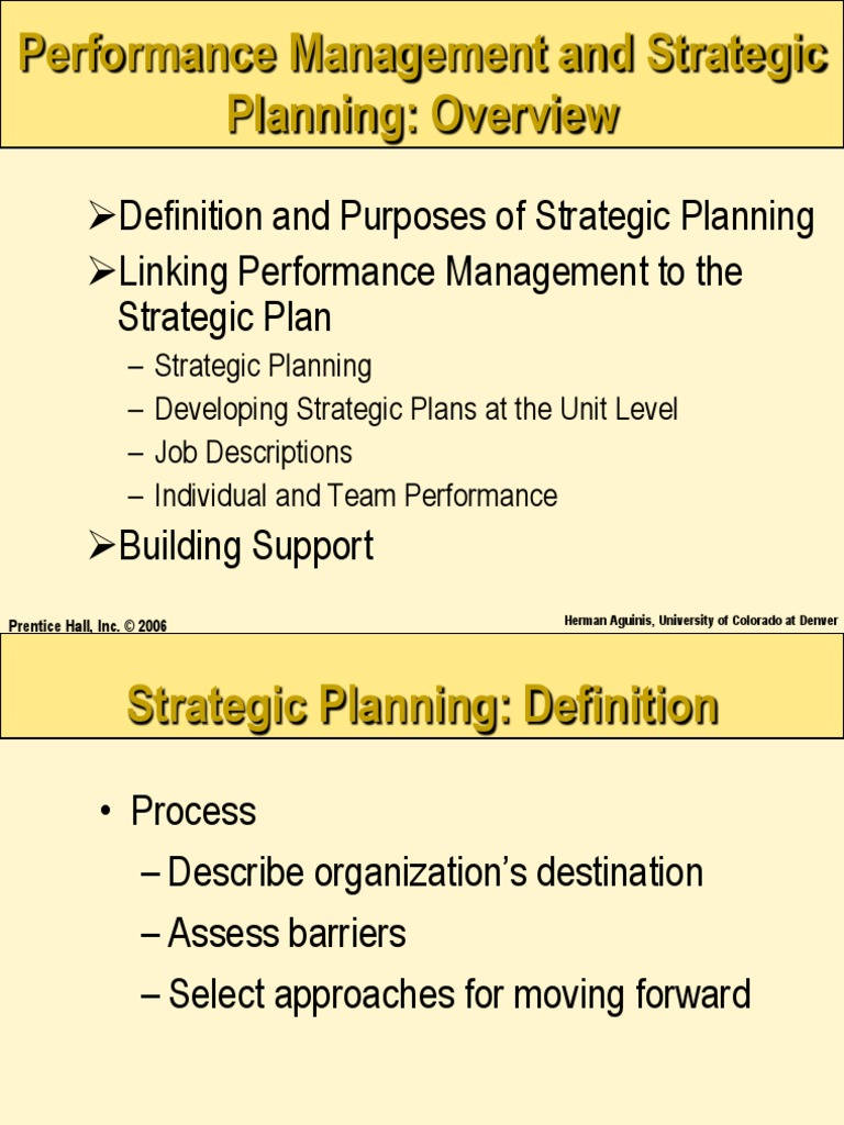 strategic planning in performance management | performance