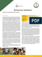 Making Health Services Inclusive