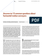 January 2012 Answers to 12 Common Questions About Horizontal Motion Conveying 2