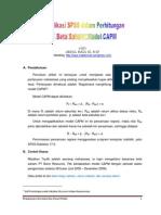 Aplikasi Spss Dalam Perhitungan Beta Koreksian Model Capm1