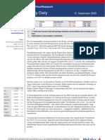 MarktkommentarAktien 15.09.2009