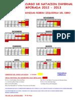 Calendario Natación 2012-2013