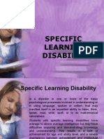 Specific Learning Disability