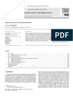 Nanostructures for Photovoltaics