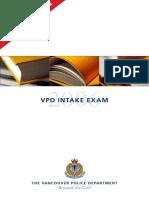 Vpd Recruiting Sample Exam