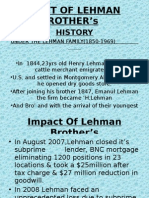 IMPACT OF LEHMAN BROTHER's PPT