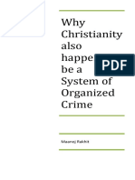 (86) Why Christianity also happens to be a System of Organized Crime