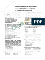 CA CPT December 2013 Question Paper With Solution