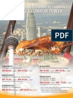 KL tower restaurant promotion