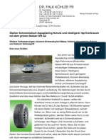 Starker Schneematsch-Aquaplaning-Schutz und niedrigerer Spritverbrauch mit dem grünen Nokian WR G2
