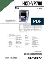 Sony HCD-VP700