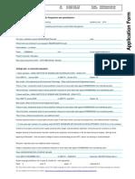 Application Form MSc Programmes