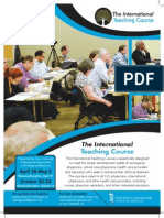 The 2014 Teaching Course Brochure