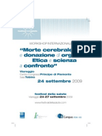 Workshop sulla definizione di morte cerebrale