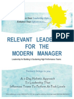 RELEVANT LEADERSHIP FOR THE