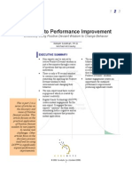 8 Minutes to Performance Improvement- Effectively Using Positive Deviant Wisdom to Change Behavior