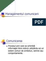 Managementul comunicarii