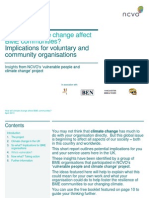 How will climate change affect BME communities?